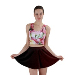 Abstract Dark Simple Red Mini Skirt