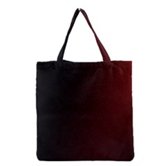 Abstract Dark Simple Red Grocery Tote Bag