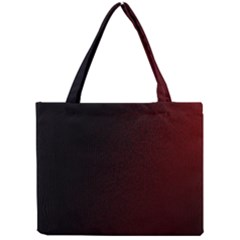 Abstract Dark Simple Red Mini Tote Bag