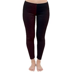 Abstract Dark Simple Red Classic Winter Leggings