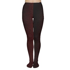 Abstract Dark Simple Red Women s Tights