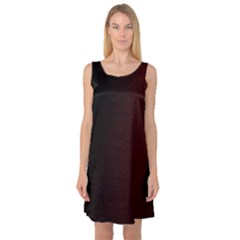 Abstract Dark Simple Red Sleeveless Satin Nightdress