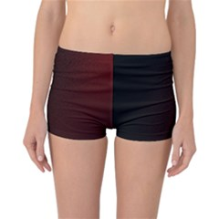 Abstract Dark Simple Red Reversible Bikini Bottoms