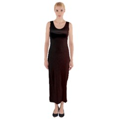 Abstract Dark Simple Red Fitted Maxi Dress