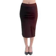 Abstract Dark Simple Red Midi Pencil Skirt