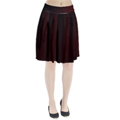 Abstract Dark Simple Red Pleated Skirt