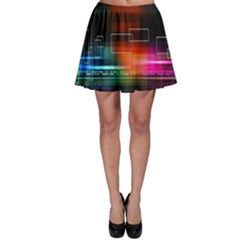 Abstract Binary Skater Skirt