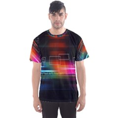 Abstract Binary Men s Sport Mesh Tee