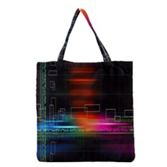 Abstract Binary Grocery Tote Bag