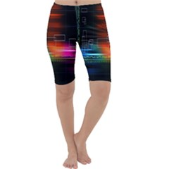 Abstract Binary Cropped Leggings