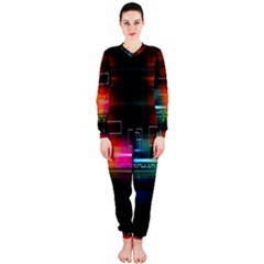 Abstract Binary Onepiece Jumpsuit (ladies)