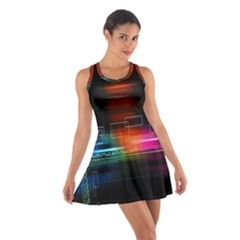 Abstract Binary Cotton Racerback Dress