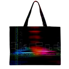 Abstract Binary Medium Zipper Tote Bag