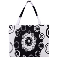 Fluctuation Hole Black White Circle Mini Tote Bag
