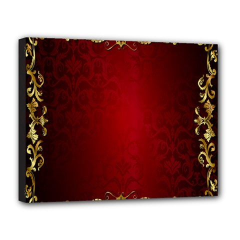3d Red Abstract Pattern Canvas 14  X 11