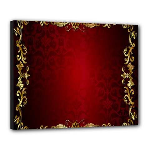 3d Red Abstract Pattern Canvas 20  X 16