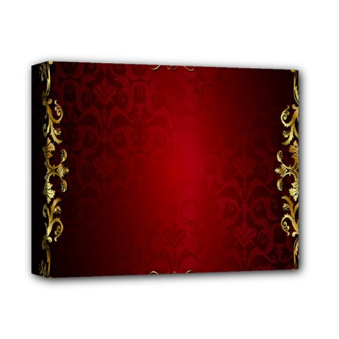 3d Red Abstract Pattern Deluxe Canvas 14  x 11