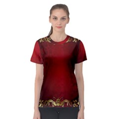 3d Red Abstract Pattern Women s Sport Mesh Tee