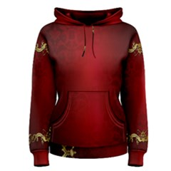 3d Red Abstract Pattern Women s Pullover Hoodie
