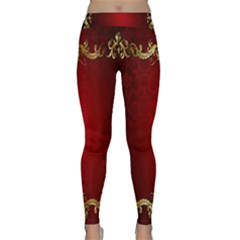 3d Red Abstract Pattern Classic Yoga Leggings
