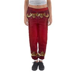 3d Red Abstract Pattern Women s Jogger Sweatpants