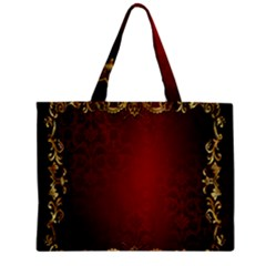 3d Red Abstract Pattern Zipper Mini Tote Bag