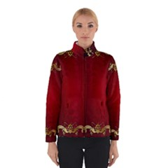 3d Red Abstract Pattern Winterwear