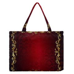 3d Red Abstract Pattern Medium Zipper Tote Bag