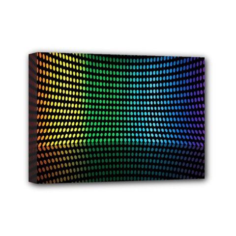 Abstract Multicolor Rainbows Circles Mini Canvas 7  X 5
