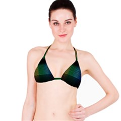 Abstract Multicolor Rainbows Circles Bikini Top