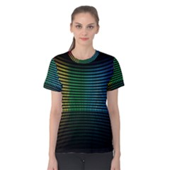 Abstract Multicolor Rainbows Circles Women s Cotton Tee