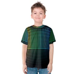 Abstract Multicolor Rainbows Circles Kids  Cotton Tee