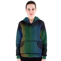 Abstract Multicolor Rainbows Circles Women s Zipper Hoodie