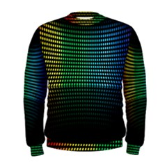 Abstract Multicolor Rainbows Circles Men s Sweatshirt