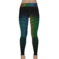 Abstract Multicolor Rainbows Circles Classic Yoga Leggings