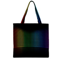 Abstract Multicolor Rainbows Circles Zipper Grocery Tote Bag