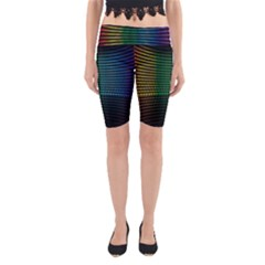 Abstract Multicolor Rainbows Circles Yoga Cropped Leggings