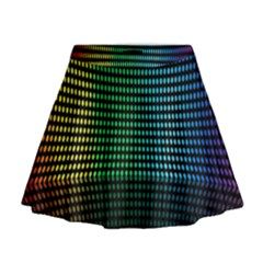 Abstract Multicolor Rainbows Circles Mini Flare Skirt