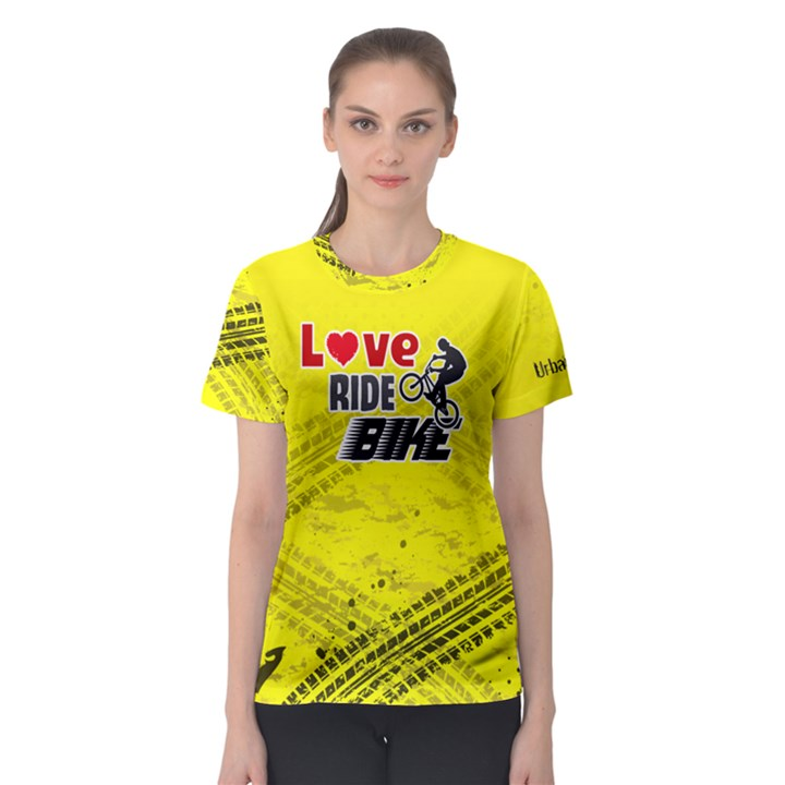Love ride Bike Fitness Women s Sport Mesh Tee