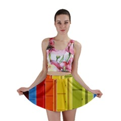 Abstract Minimalism Architecture Mini Skirt