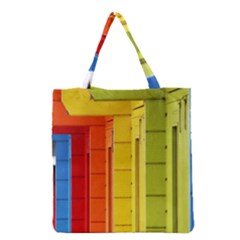 Abstract Minimalism Architecture Grocery Tote Bag