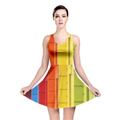 Abstract Minimalism Architecture Reversible Skater Dress