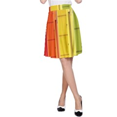 Abstract Minimalism Architecture A-Line Skirt