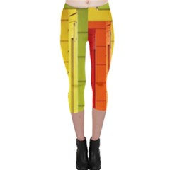 Abstract Minimalism Architecture Capri Leggings