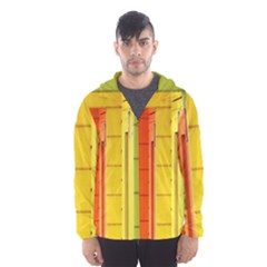 Abstract Minimalism Architecture Hooded Wind Breaker (men)