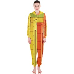 Abstract Minimalism Architecture Hooded Jumpsuit (ladies)