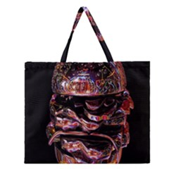 Hamburgers Digital Art Colorful Zipper Large Tote Bag