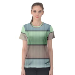 Lines Stripes Texture Colorful Women s Sport Mesh Tee
