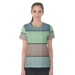 Lines Stripes Texture Colorful Women s Cotton Tee