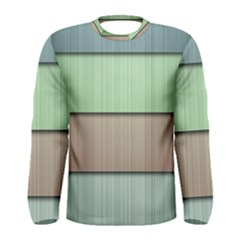 Lines Stripes Texture Colorful Men s Long Sleeve Tee